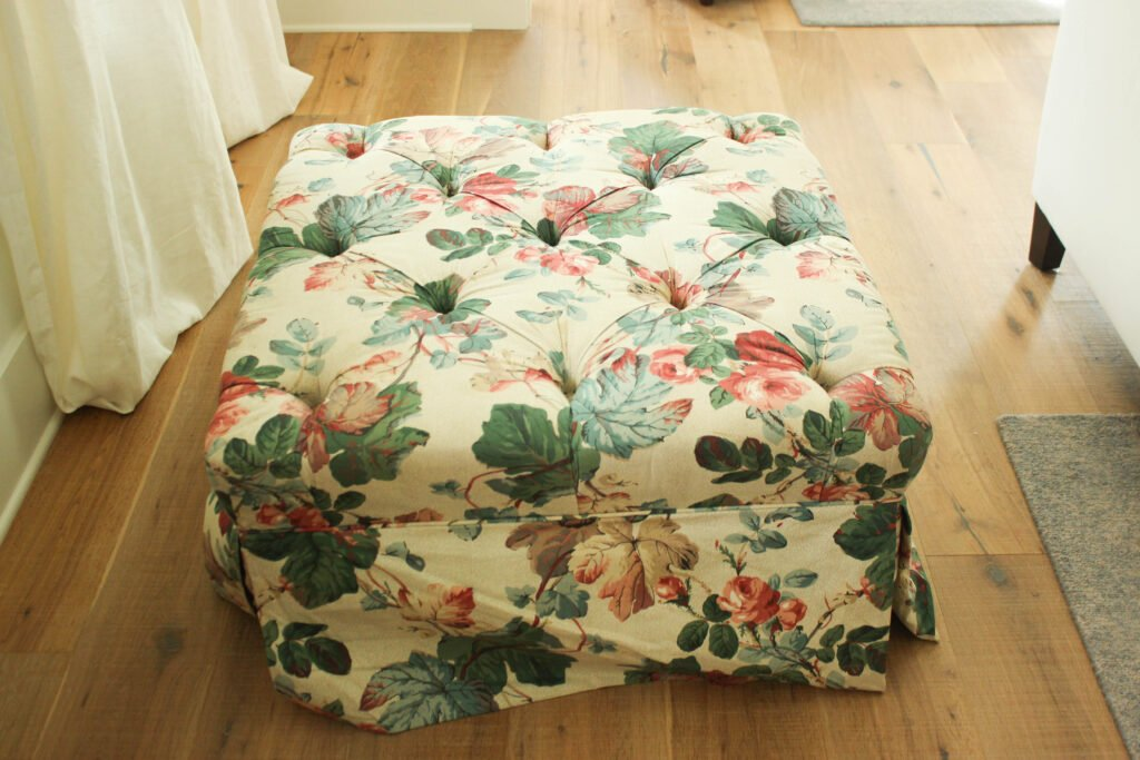 Upholstered ottoman to be painted:4 Insanely Awesome Steps to To Painting A Upholstered Ottoman