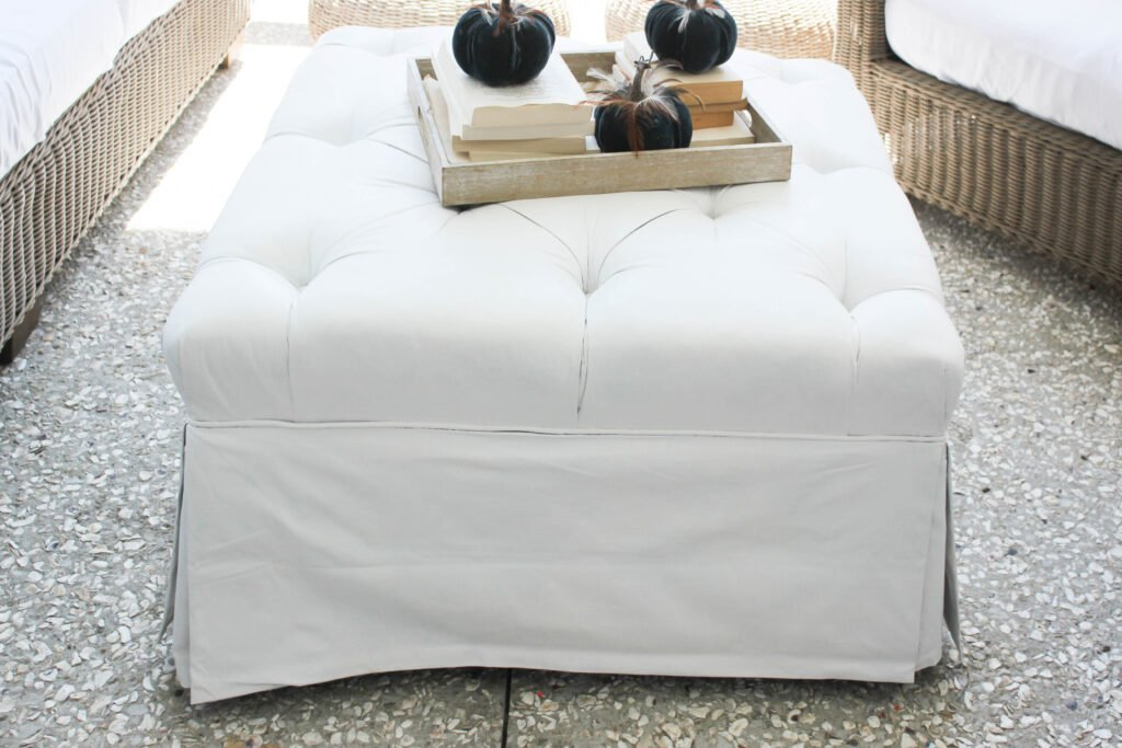 Painted ottoman: 4 Insanely Awesome Steps to To Painting A Upholstered Ottoman