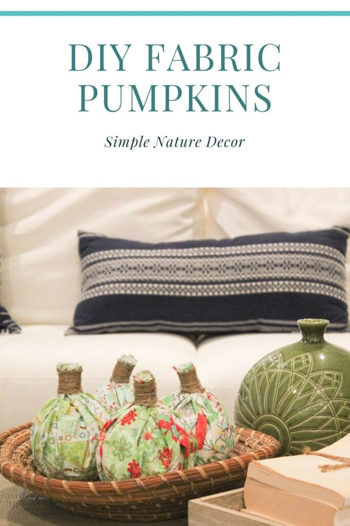 fabric pumpkins in basket:: How To Make No-Sew Fabric Pumpkins