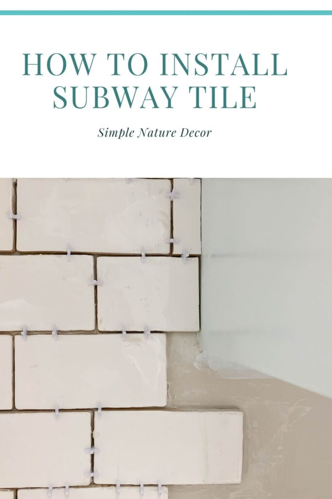 How To Install Subway Tile Backsplash In The Laundry Room