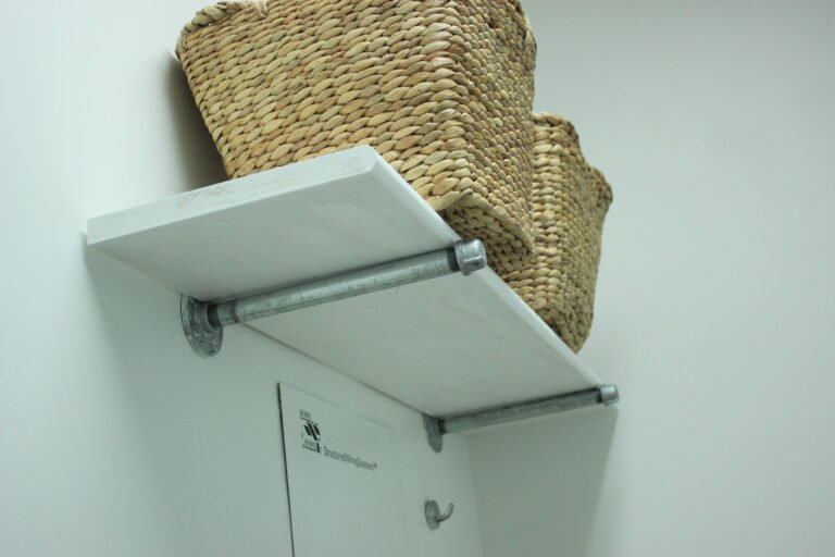 How To Install Industrial Pipe Shelves For Laundry Room