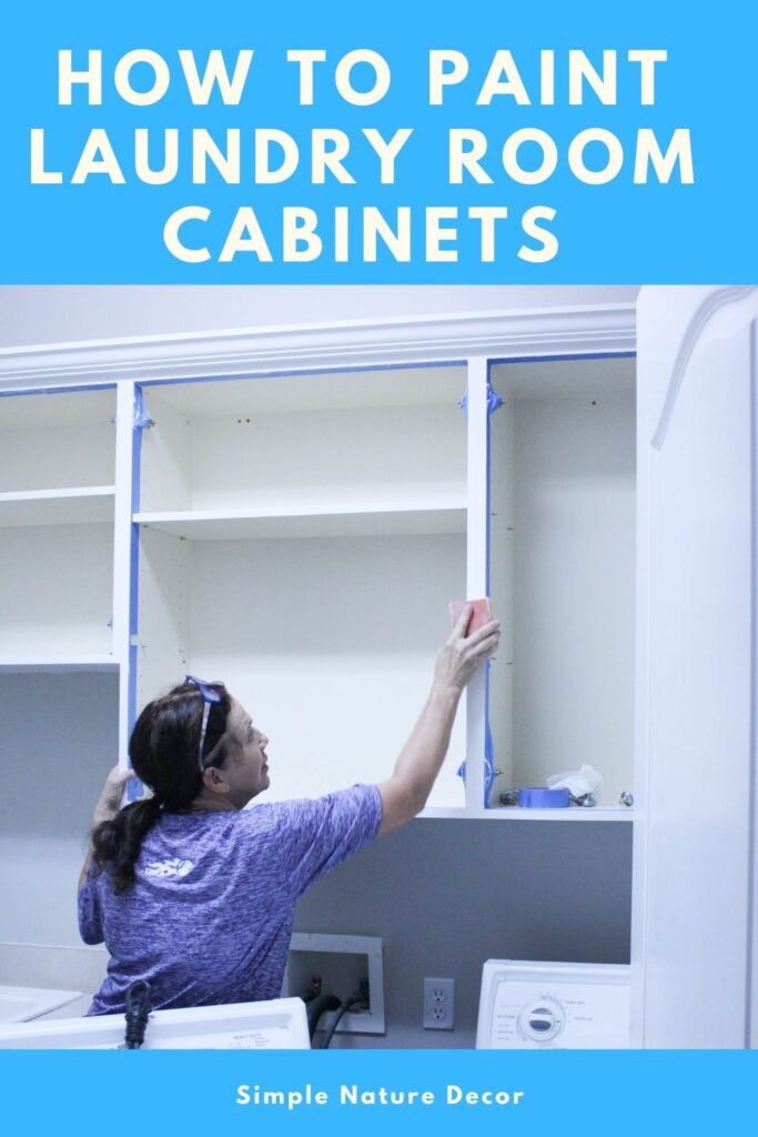 How To Paint Laundry Room Cabinets: Week 2