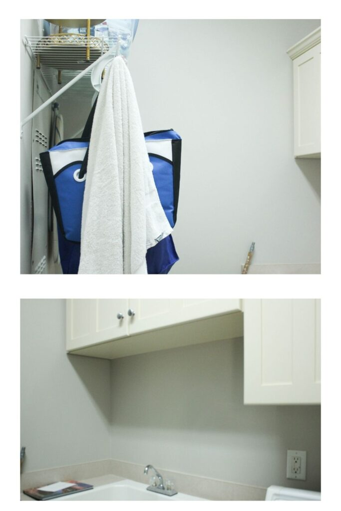 Before pictures: Budget-Friendly Laundry Room Makeover Reveal