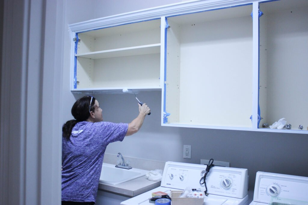Painting cabinet: 5 Tips On Painting Laundry Room Cabinets: Week 2