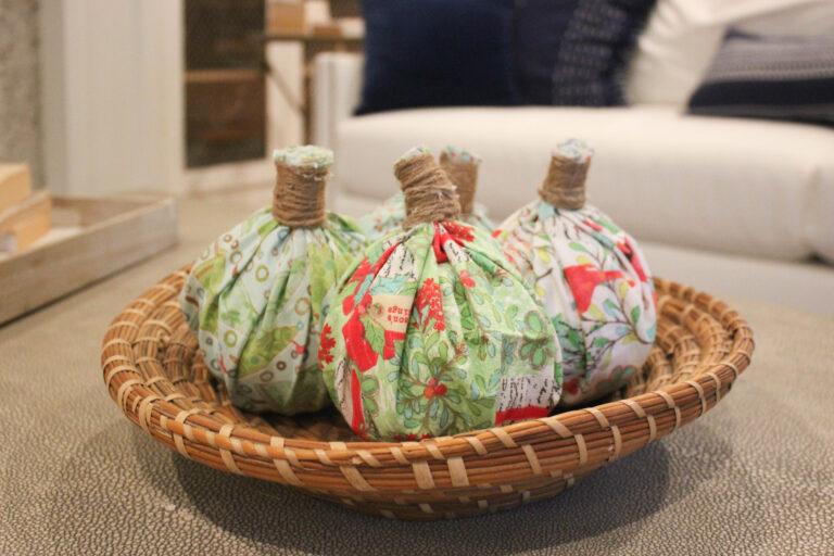 How To Make No-Sew Fabric Pumpkins