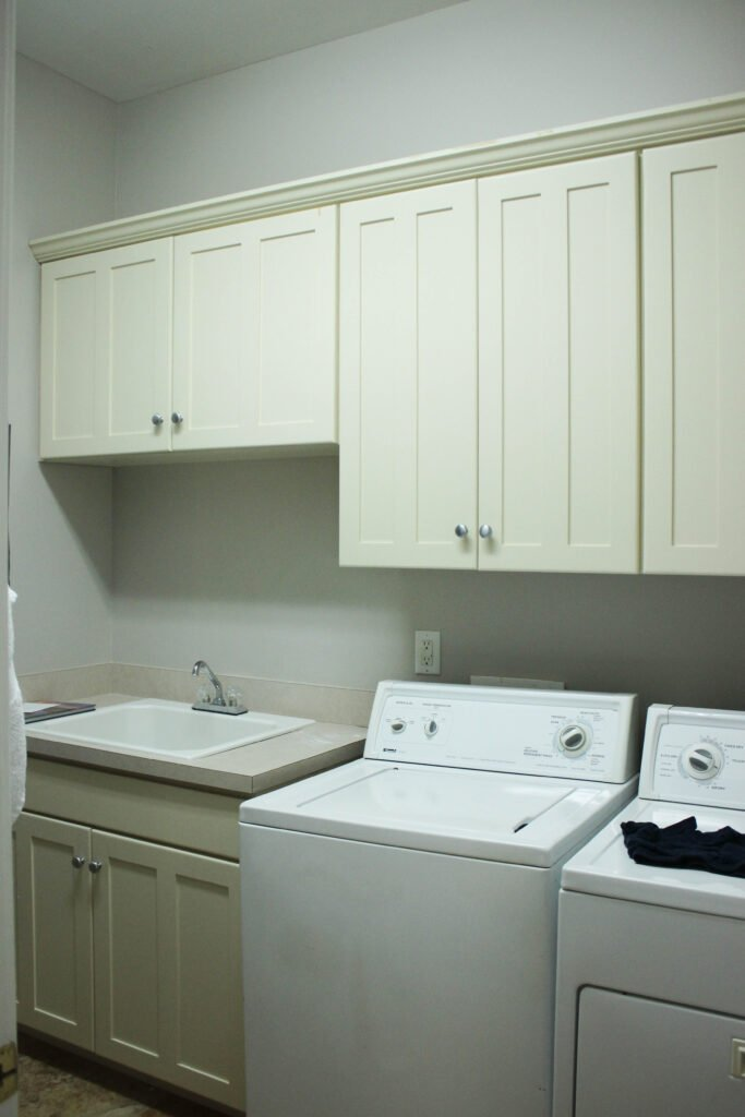 Before pictures of Diy Laundry Room Makeover On A $100 Budget