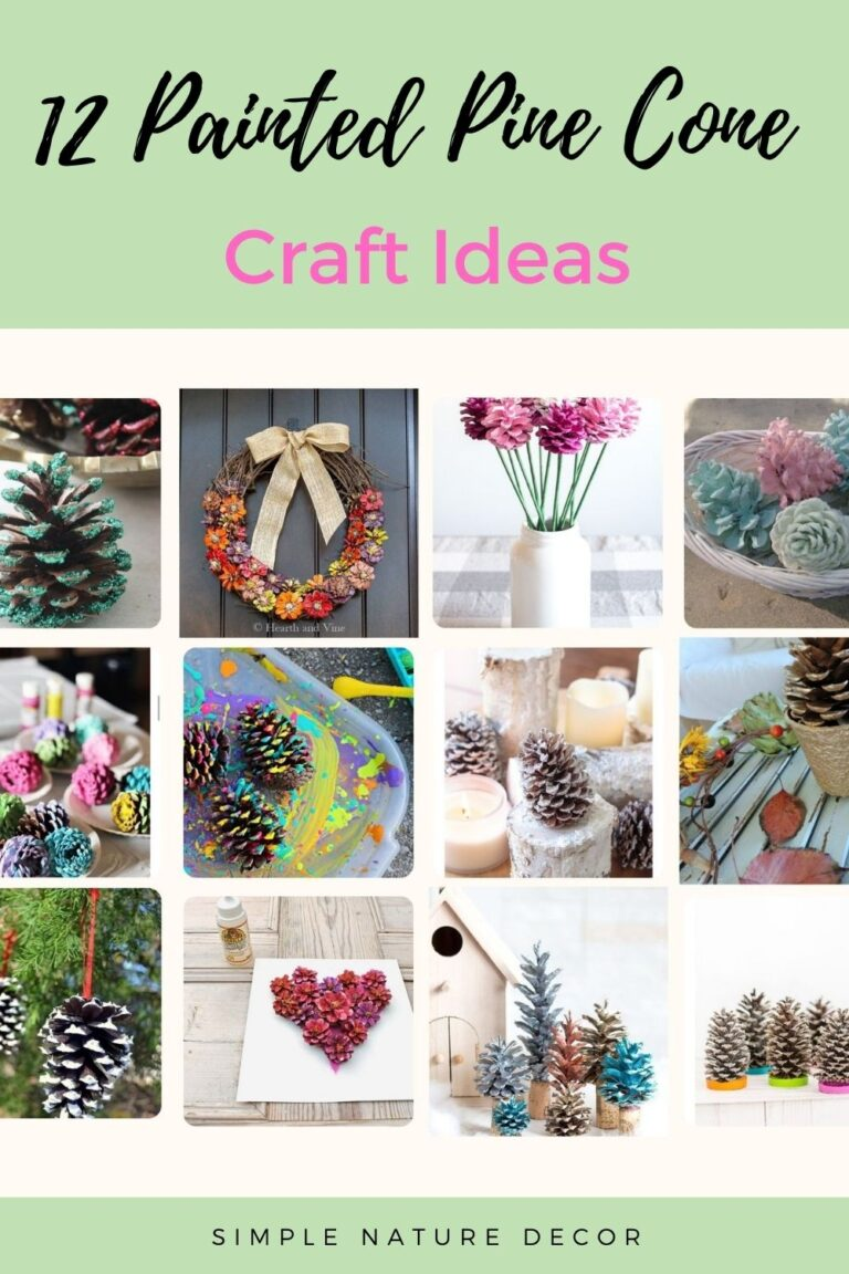 12 Painted Pine Cone Craft Ideas To Do This Winter