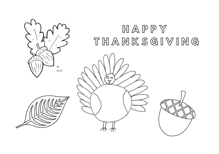 How To Make A Printable Thanksgiving Placemat For Kids