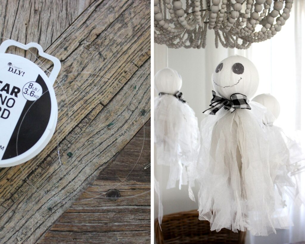 How to hang ghosts with cord: How To Make Halloween Hanging Ghosts Decorations