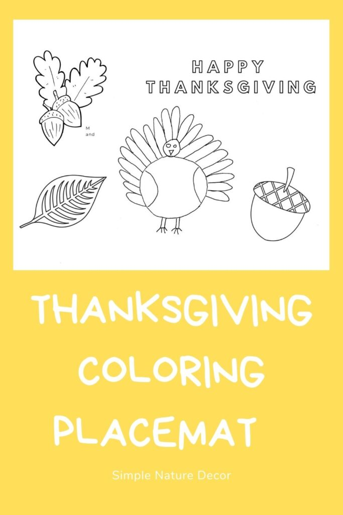 Printable you can color for Thanksgiving How To Make A Printable Thanksgiving Placemat For Kids