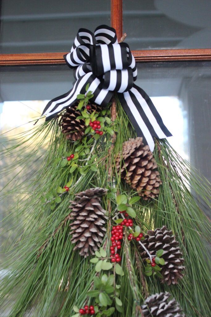How to make a Christmas evergreen swag wreath:Top 10 2020 Posts: Simple Nature Decor