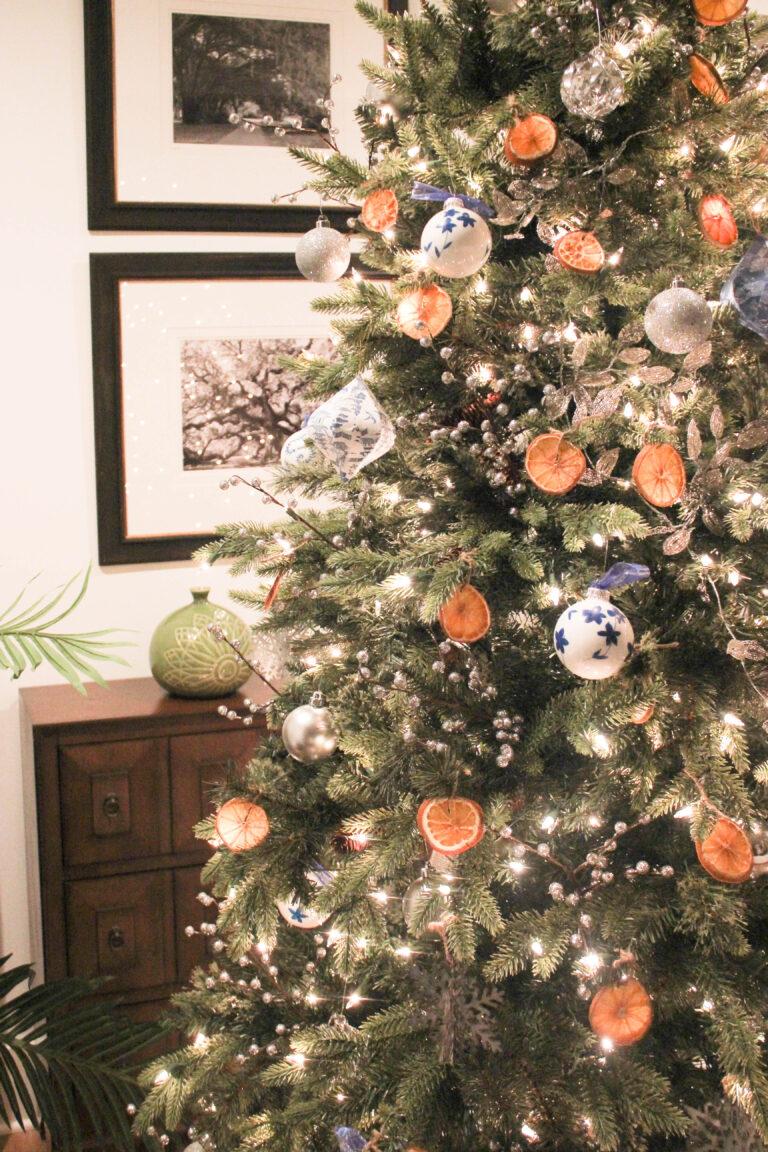 How To Make A Dried Orange Christmas Tree Decorations