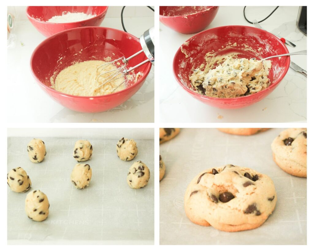 Instructions to make fluffy chocolate chip cookies.How To Make Fluffy Chocolate Chip Cookies