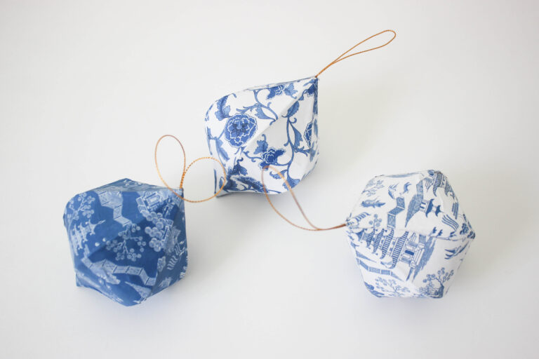 How To Decoupage Chinoiserie Christmas Ornaments