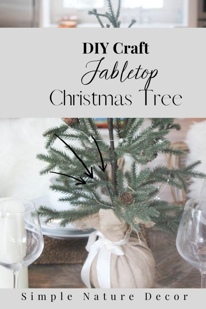 How To Make A Tabletop Christmas Tree