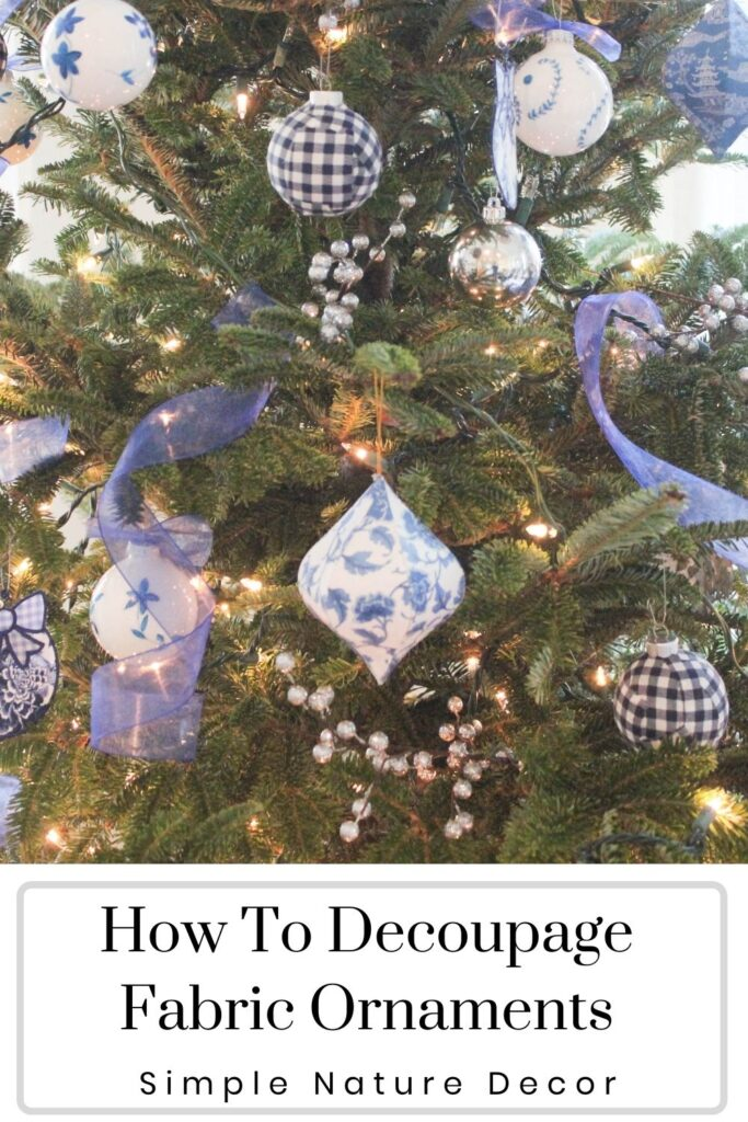 How To Decoupage Fabric Ornament Balls