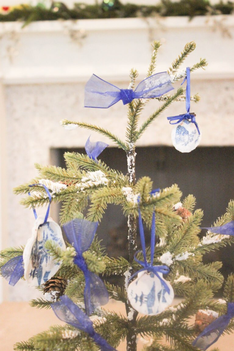 How To Decoupage Seashell Christmas Ornaments