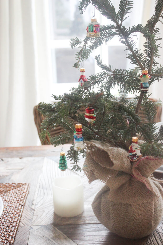 Scandi Style holiday tree:How To Make A Tabletop Christmas Tree