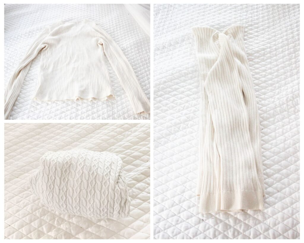 How to fold a sweater: KonMari Folding Method
