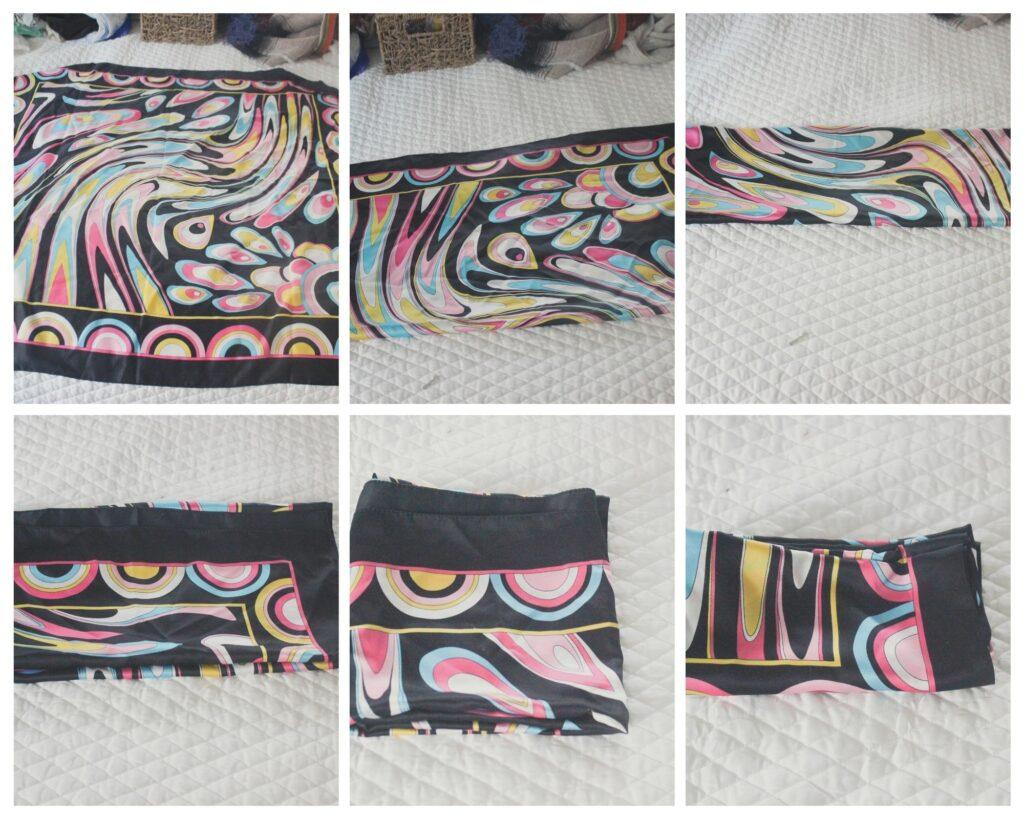 How to fold a scarf: KonMari Folding Method