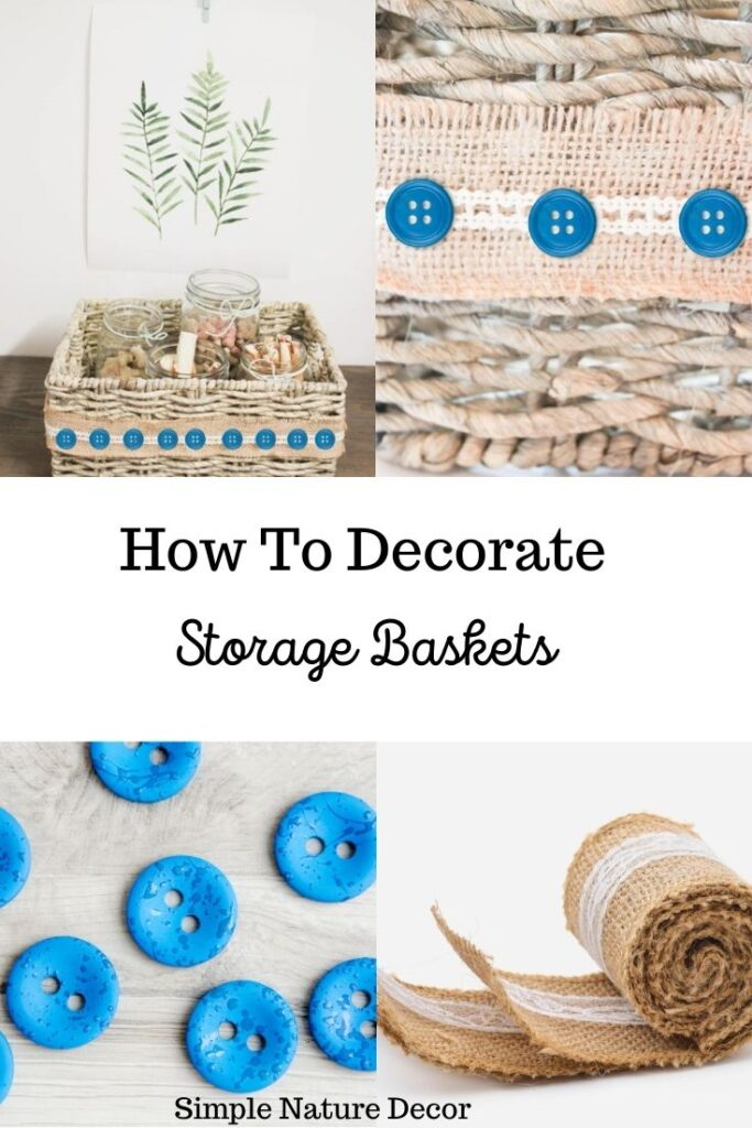 How To Decorate A Storage Basket For Stylish Shelving