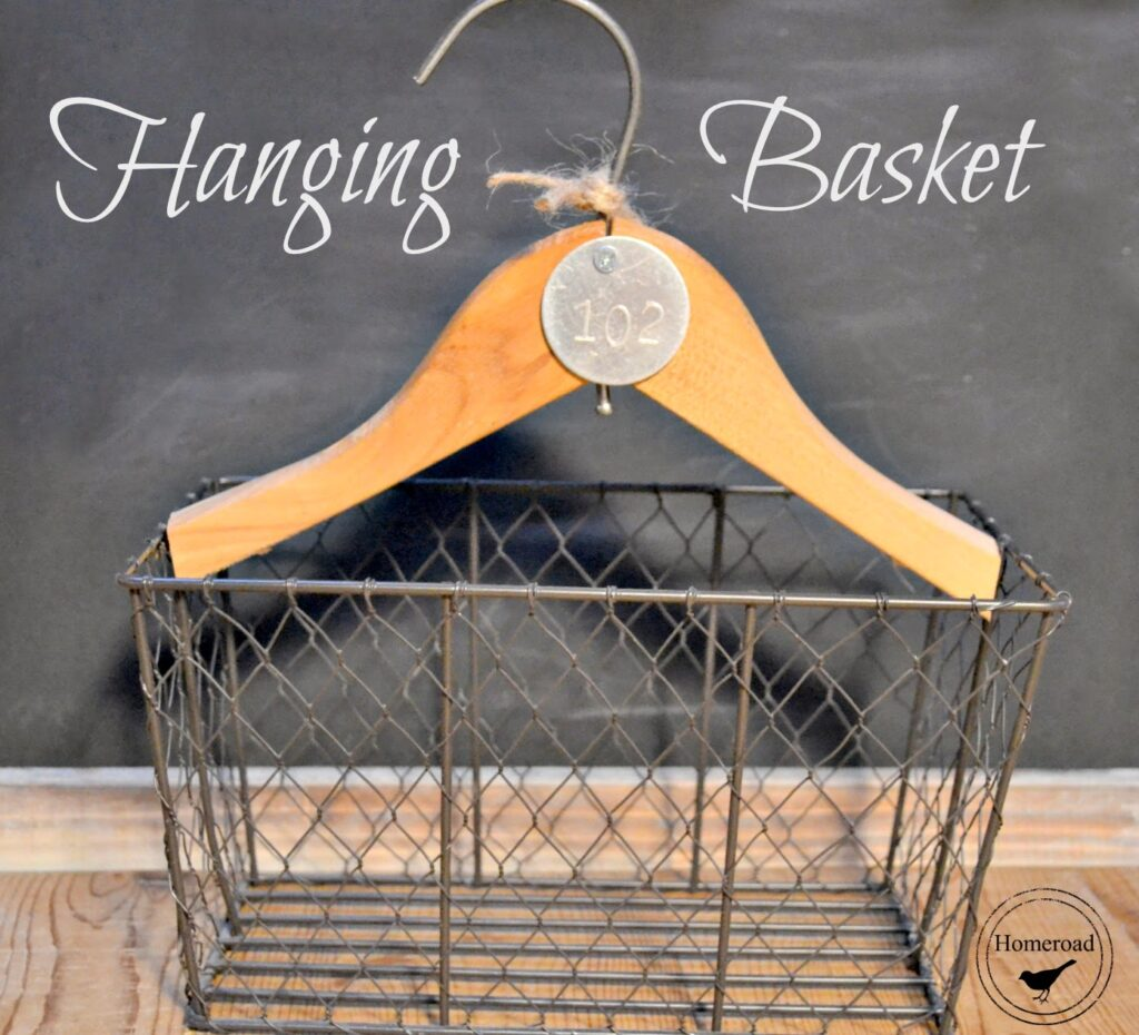 Hanging wired basket:15 DIY Basket Storage Ideas That You Will Love