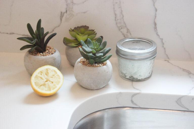 How To Make Lemon Cleaning Scrubs
