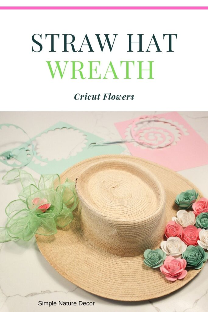 Straw hat wreath:How To Make a Paper Flower Wreath Using Straw Hat