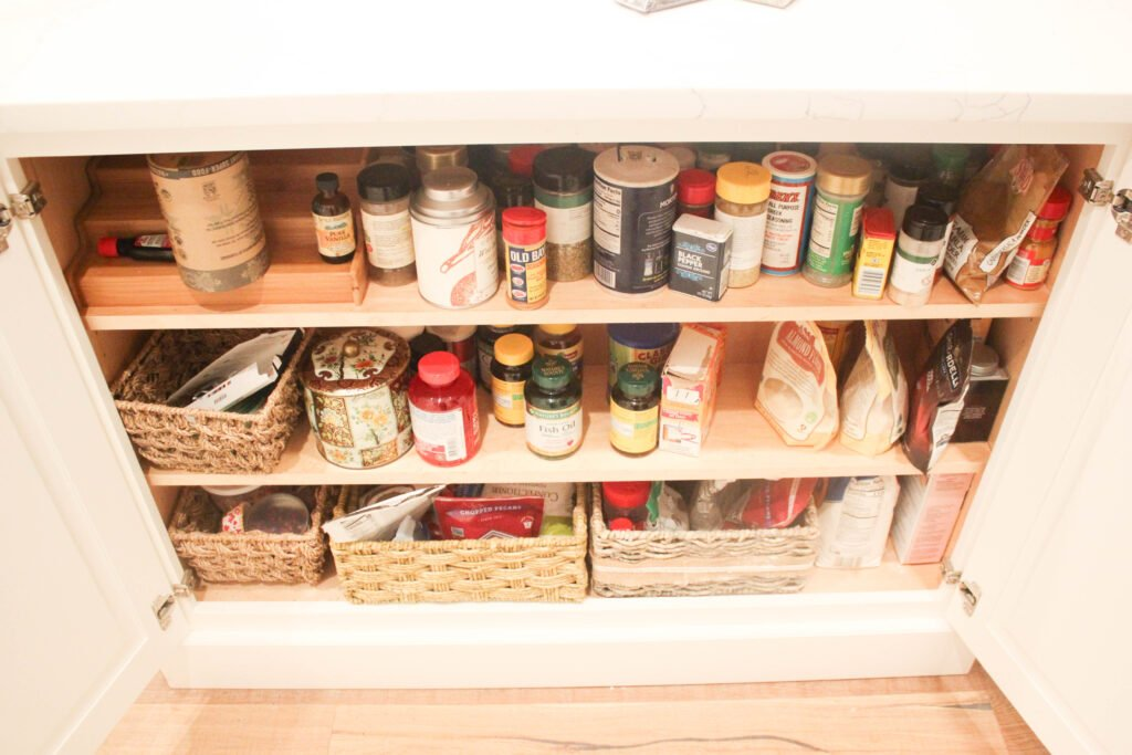 Messy spice cabinet:How To Organize Your Spice Cabinet The KonMari Way