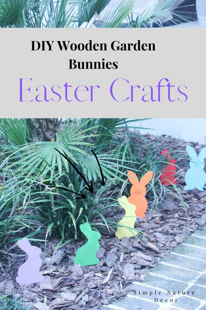 Wooden Easter bunnies: