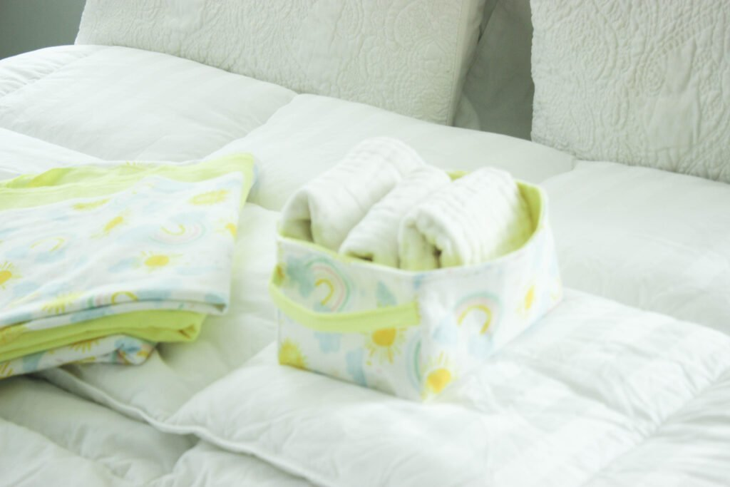 baby gift using fabric gift baskets
