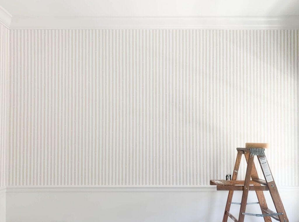 Stripped bambo wallpaper:gender neutral wallpaper