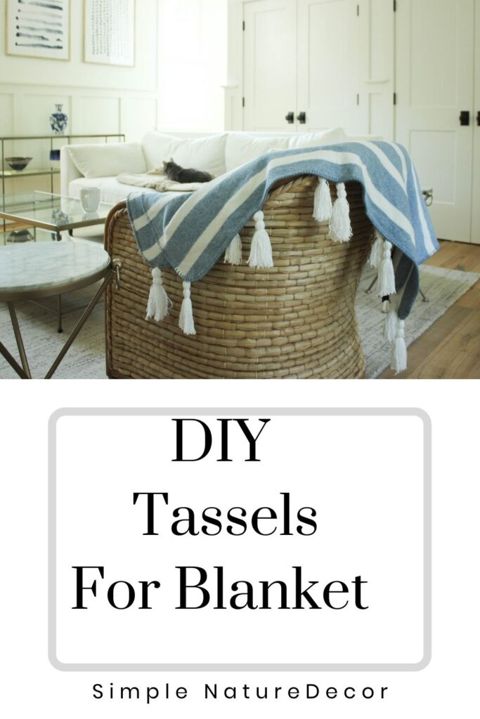 How To Make Tassels For A Blanket