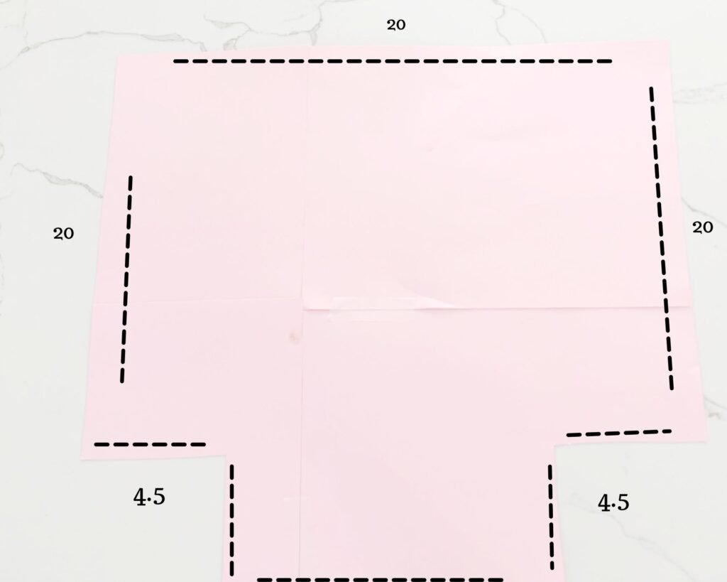 template for Foldable Fabric Storage Baskets