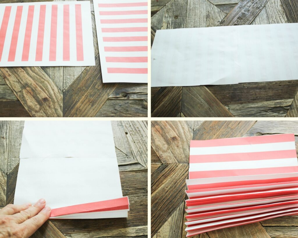 star and stripe Printables:How To Make Fourth of July Pinwheel Paper Wreath