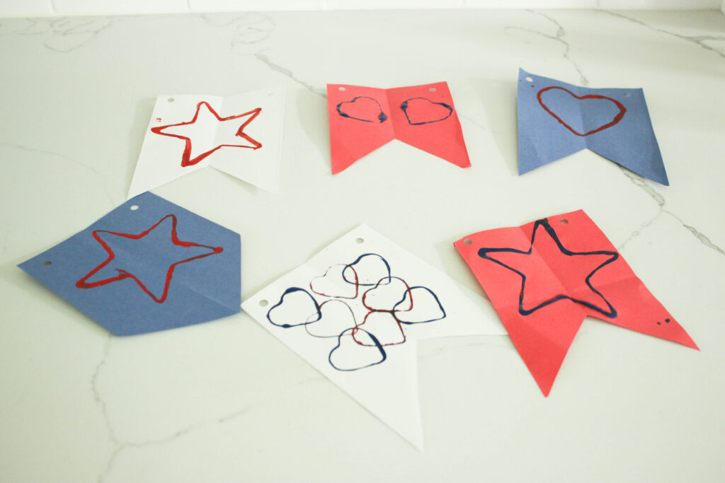 stenciled star spangled banner for kids
