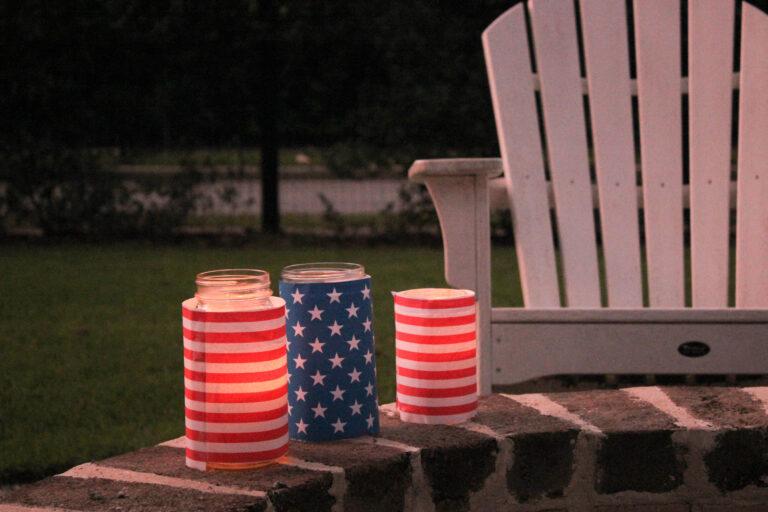 July 4th Mason Jar Lanterns