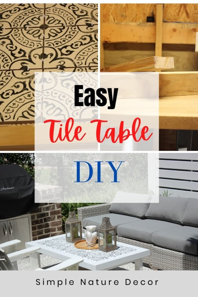 Tile table:outdoor tile coffee table