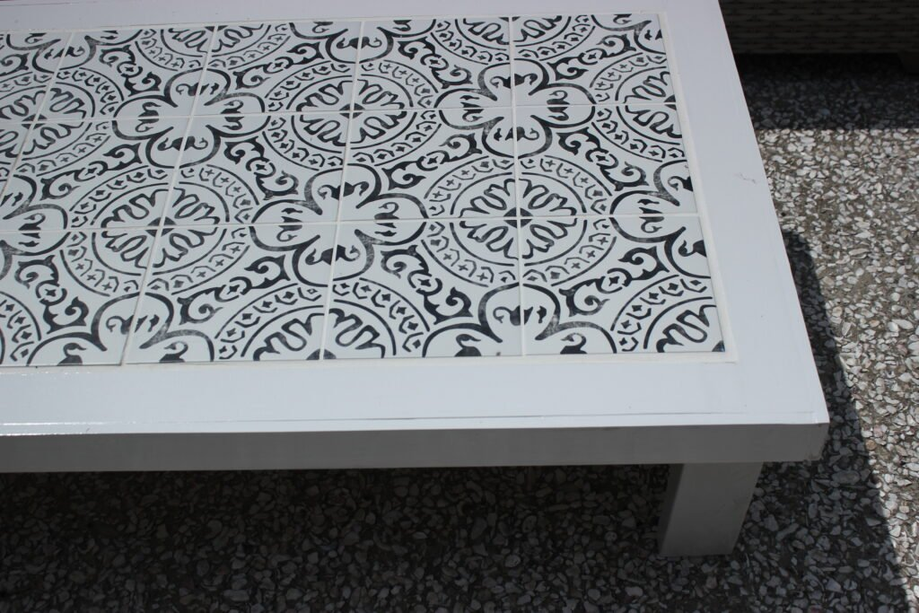 outdoor tile coffee table