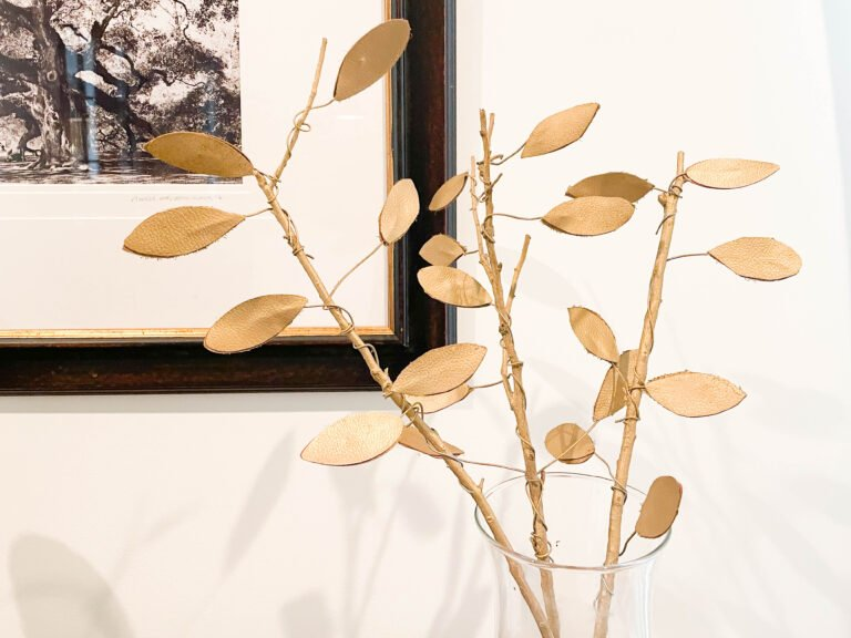 How To Make Faux Fall Leaves On Gold Branches
