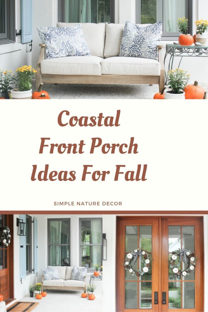 Love seat: Coastal front porch ideas for fall