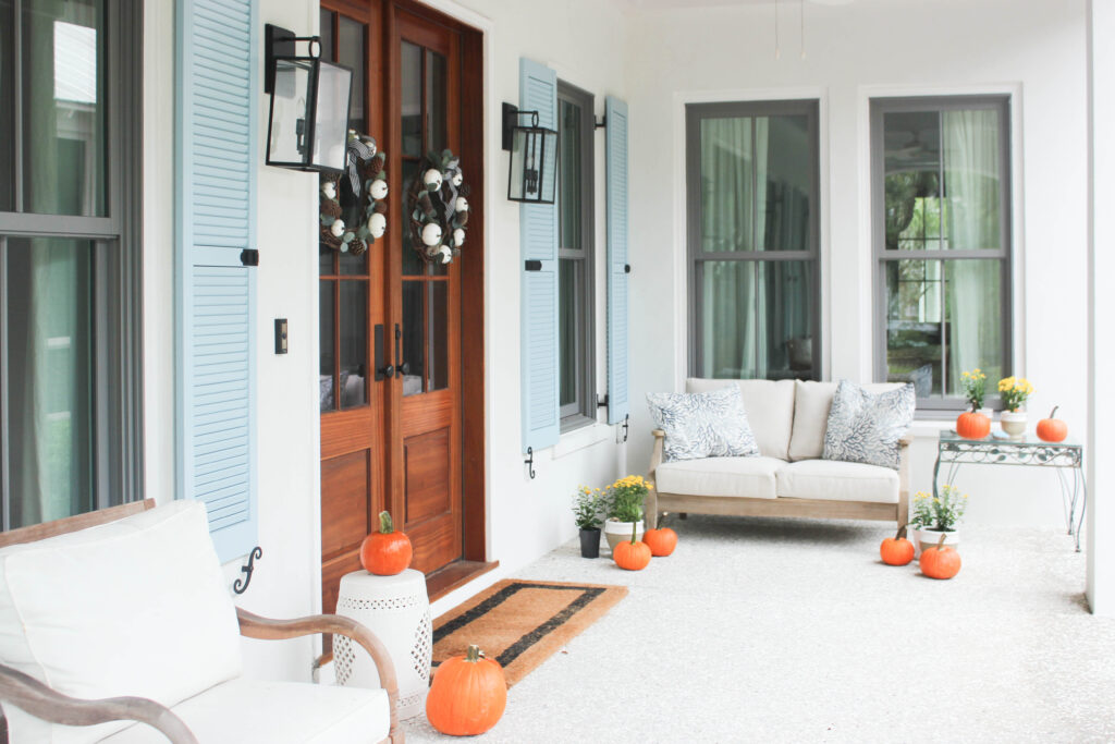 coastal front porch ideas for fall