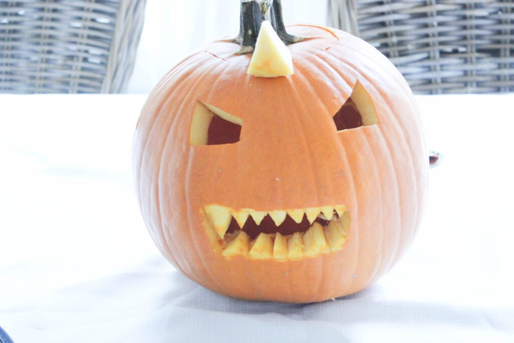 How To Carve A Pumpkin Shark with teeth